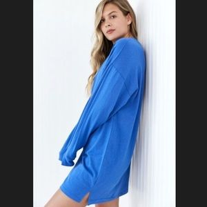 BDG Mabey Oversized Long-Sleeve T-Shirt Dress